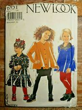 New Look Sewing Pattern 6951 Girls Dress Top Skirt Pants Sizes 3-8 UNCUT