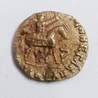 Azes 2 Silver Drachm BC 50 High Grade Human Figure LOT#WP0404