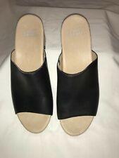 Dansko Maci Mule Sandal Black Leather Medium Comfort 9.5-10 Euro 40