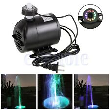 Submersible Water Pump with 12 LED Lights for Fountain Pool Garden Pond Fish GL