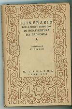 ITINERARIO DELLA MENTE VERSO DIO DI BONAVENTURA DI BAGNOREA CARABBA 1924