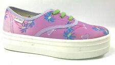 NEW Victoria Footwear Platform Canvas Tennis Shoes 6 U.S. Made in Spain