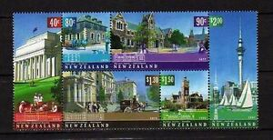11868) New Zealand 2002 Architectural Heritage - Block Of 6 MNH