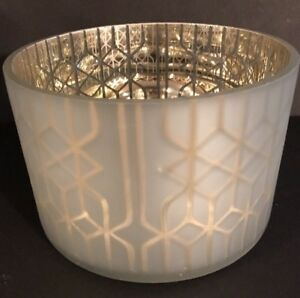 YANKEE CANDLE Shimmering Lattice Barrel Jar Shade For Medium/Large NWT