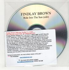(GN589) Findlay Brown, Ride Into The Sun - 2015 DJ CD