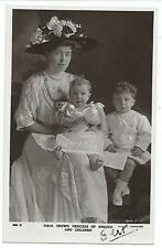 ROYALTY - CROWN PRINCESS of SWEDEN & CHILDREN Beagles Real Photo Postcard