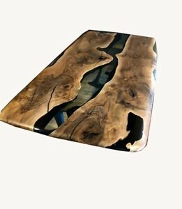 Black Ultra Clear Wooden Epoxy, Sofa, Center, Side, Dining Table Made To Order