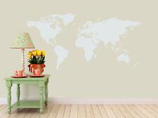 Detailed World Map Decal | Vinyl Wall Sticker