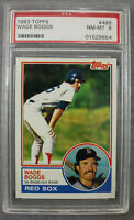 Wade Boggs HOF Boston Red Sox Yankees 1983 Topps Baseball Rookie 498 Grade PSA 8