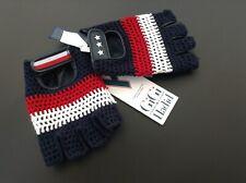 BNWT 100% Auth Tommy Hilfiger & Gigi Hadid, Stylish Leather Biker Gloves.