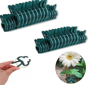 40 X Garden Plant Clips Seedlings Plants Support Tools Small Large ties 2 sizes