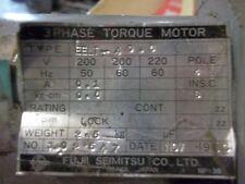 Fujii SEIMITSU EELT-40.6 3 Phase Torque Motor 200-220V 50/60Hz 4Pole .1A (UU6)
