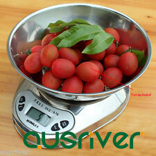 3kg/0.1g Electronic Digital Kitchen Scale Silver LED Backlight Stainless Steel