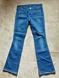 wrangler jeans w32 L34 Amanda flare low waist trousers