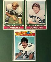 1974 Topps Larry Cole & Ralph Neely 1977 Randy White Dallas Cowboys 70s Lot
