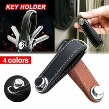 Genuine Leather Key Wallet Holder Organizer Folder Clip Car Keyring Key Chain RO