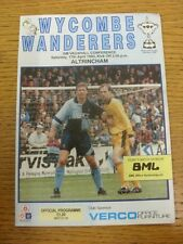 17/04/1993 Wycombe WANDERERS V altrincham [ ultimo non-league Stagione Wycombe ] (team