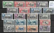 Falkland Islands  @ 1938 Superb set  S.G 146-163 @ Gb.139