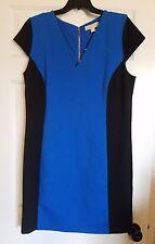 Michael Kors Knit Sheath Dress Size 16 Black & Blue Party Career Plus BRAND NEW