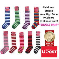 Children's Colourful Striped Knee High Socks Kids Knee High Socks SINGLE PAIR