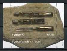 Faroes Faroe Islands 2017 MNH Faroese Knife SEPAC Handicrafts 1v M/S Stamps