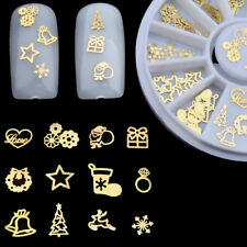 120x Metal Slices Christmas Nail Art Decors Slice Stickers Decal Foil Wheel UK