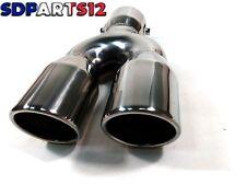 Embout tuyau pot d'echappement universel pour automobiles acier inox code HJ-Y01