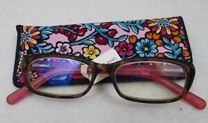 Vera Bradley Tina Reading Glasses 1.50 Kaleidoscope