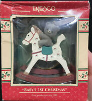 Ornament Vintage 1989 Enesco Baby's 1st Hand Painted Rocking Horse Collectible