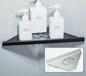 Brushed Nickel Stainless Steel Bathroom Corner Shelves Wall Storage Shelf