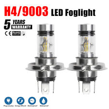 2x H4 LED Headlight 9003 HB2 Foglight 100W Beam Driving DRL Bulb Lamp White