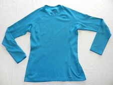 WOMENS teal long sleeve layer TOP SHIRT = PATAGONIA = SIZE SMALL = cs66