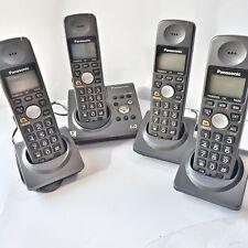 Lot of 4 Panasonic KX-TG1031B Cordless Answer Phone Complete Set 6.0