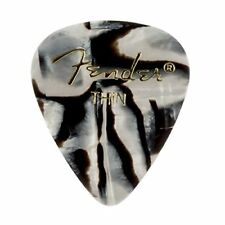 Fender 351 Premium Celluloid Guitar Picks - THIN, ZEBRA - 12-Pack (1 Dozen)