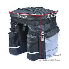 43L All in 1 Waterproof Bicycle Rear Pannier Cycling Bag Double Pouch Bike Hold