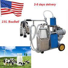 25L Electric Milking Machine Milker For farm Cow Bucket Bucket Motor 1440rmp/min