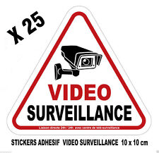 CAMERA VIDEO SURVEILLANCE Lot de 25 adhesifs stickers autocollants Alarme video