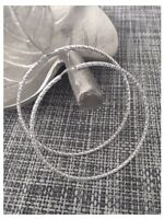 Boucles D'oreilles Créoles 6 cm scintillantes Argent Massif 925/000 Bijoux Femme