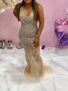 Stunning Portia Scarlett Jovani Crystal Dress Prom Wedding Occasion Size 10