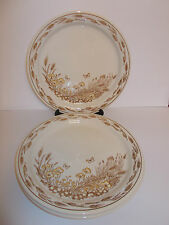 3 x English Ironstone 25cm Pictorial Design Dinner Plates - Lovely