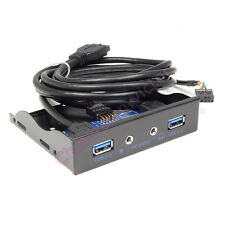 """2 Ports USB 3.0 & HD Audio Front Panel 3.5"""" Expansion PC Floppy Bay Metal"""