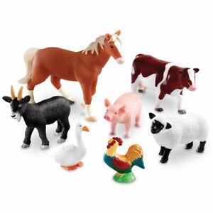 Learning Resources Jumbo Farm Animals  - set of 7
