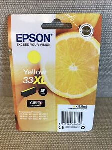 Original Epson 33XL Yellow C13T33644012 Ink Cartridge 650 pages XP-630 XP-530