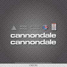 0608 White Cannondale R700 Bicycle Stickers - Decals - Transfers
