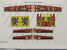 28mm Medieval Wars of the Roses Paper Flags Lacastrian Earl of Northumberland