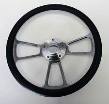 """1948 - 1959 Chevy  Pick Up Truck Navy Blue and Billet Steering Wheel 14"""""""