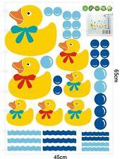 Pato De Goma Familia & Burbujas pegatinas de pared Baño Azulejo extraíble Decoración Infantil