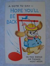 Come, Let us go up..to the house of God MICAH 4:2 Artist Signed Vintage Postcard
