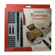 More details for manuscript calligraphy masterclass pen gift set with nibs ink & guide book