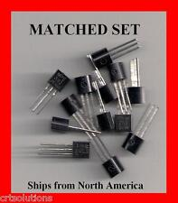 MATCHED SET 5 ea MPSA92 + MPSA42 HV Transistor HFE Select Motorola or Fairchild